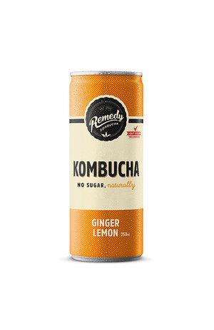 Remedy Remedy Organic Kombucha Ginger Lemon can