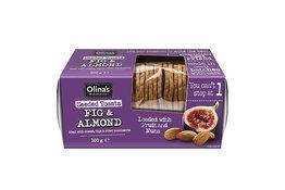 Olinas Bakehouse Olina's Bakehouse Fig & Almond Seeded Crisps 100g