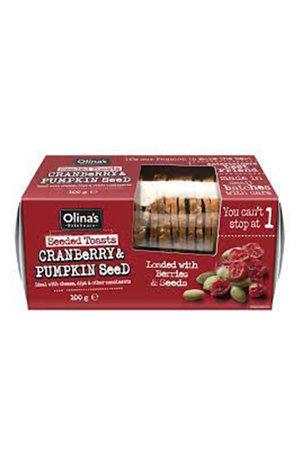 Olinas Bakehouse Olina's Bakehouse Cranberry & Pumpkin Seeded Crisps 100g
