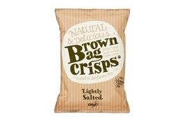 Brown Bag Crisps Lightly Salted Crisps 150g