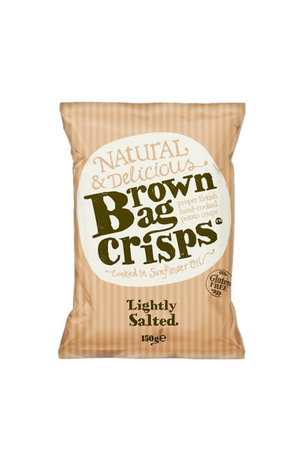 Brown Bag Crisps Lightly Salted Crisps 150g