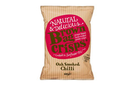 Brown Bag Crisps Oak Smoked Chilli Crisps 150g