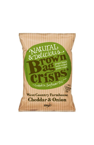Brown Bag Crisps West Country Farmhouse Cheddar & Onion Crisps 150g