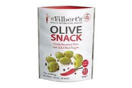 Mr Filbert's Mr Filbert's Chilli & Black Pepper Green Olives 65g