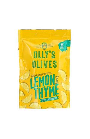 Olly's Olives Olly's Olives The Hippie Lemon & Thyme Green Olives 50g