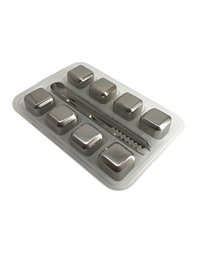 Stainless Steel Ice Cube 8-piece