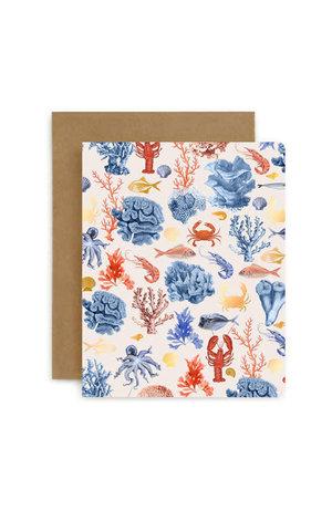 Bespoke Letter Press Bespoke Letterpress Greeting Card - Crustaceans