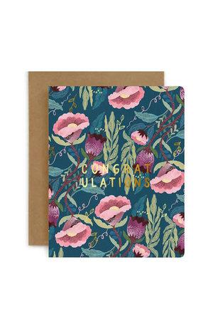 Bespoke Letter Press Bespoke Letterpress Greeting Card - Congratulation (Blomstra)
