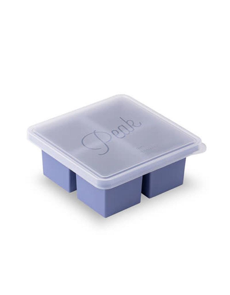W&P Design W&P Peak Ice Works Cup Cube 4 Cube Tray-Peak Blue 7.2cm x 7.2cm x 2.87cm