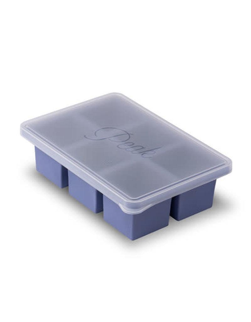 W&P Design W&P Peak Ice Works Cup Cube 6 Cube Tray- Peak Blue 10.35cm x 7.2cm x 2.87cm