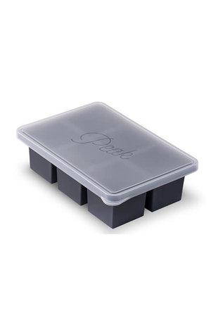 W&P Design W&P Peak Ice Works Cup Cube 6 Cube Tray-Charcoal 10.35cm x 7.2cm x 2.87cm