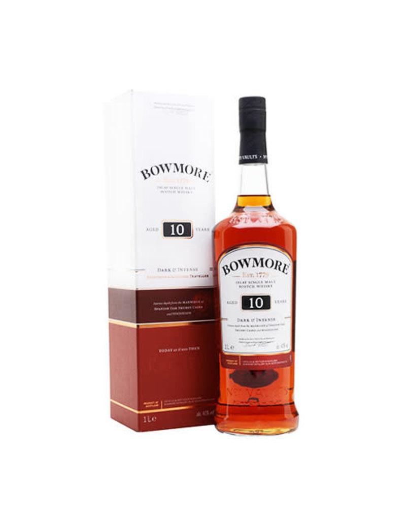 Bowmore Bowmore 10 Year Old Dark and Intense Single Malt Whisky, Islay (1L)