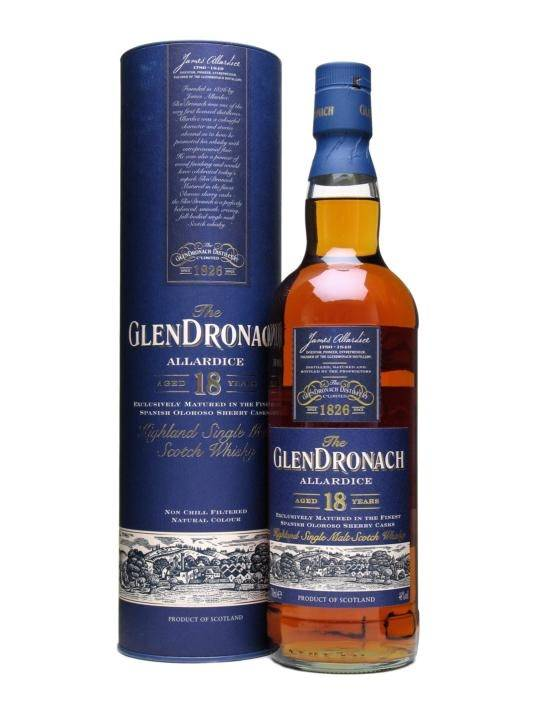 GlenDronach Glendronach 18 Years Old Single Malt Scotch Whisky, Highland