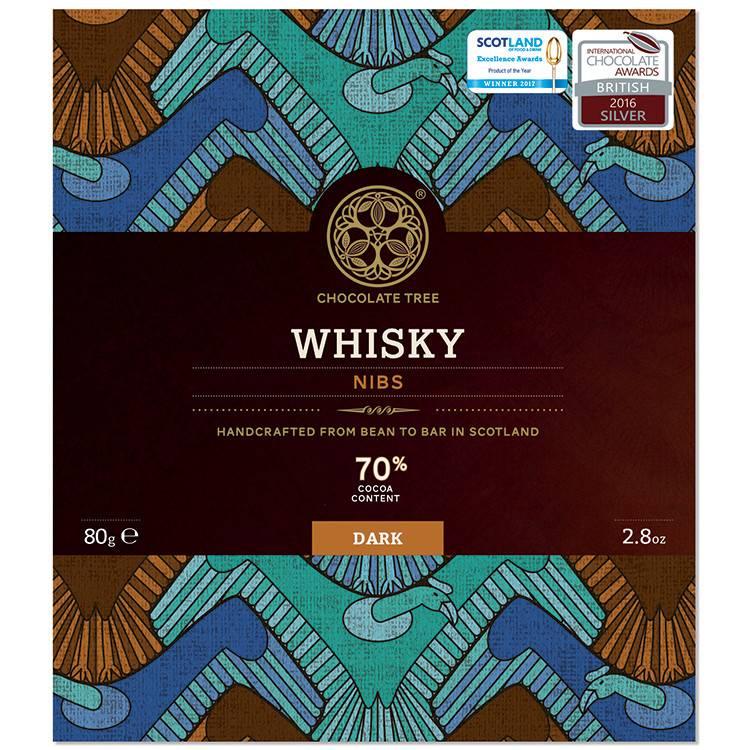 Chocolate Tree Chocolate Tree Whisky Nibs 70% 80g