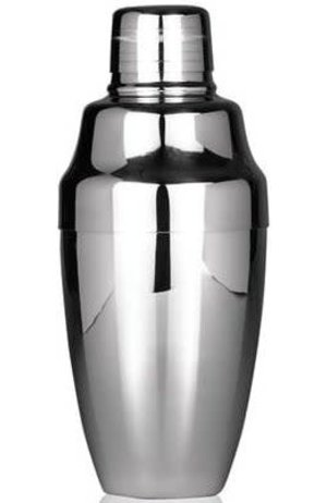 Cocktail Three-Piece Cobbler Shaker Silver