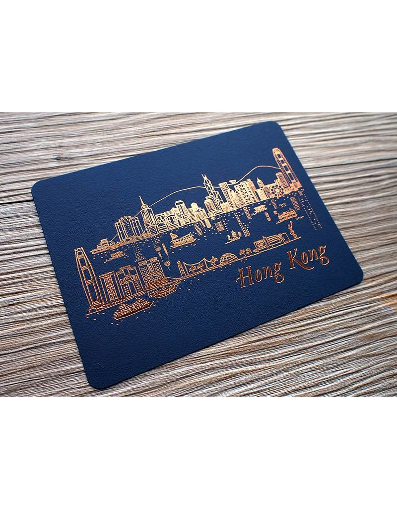 Ditto Ditto Ditto Postcard Hong Kong Skyline (NIGHT)