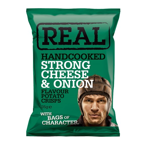 REAL Handcooked REAL Strong Cheese & Onion 35g