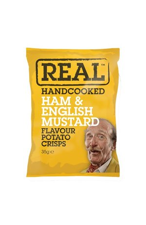 REAL Handcooked REAL Ham & English Mustard 35g