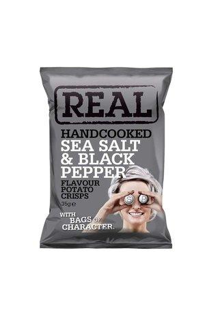 REAL Handcooked REAL Sea Salt & Black Pepper 35g