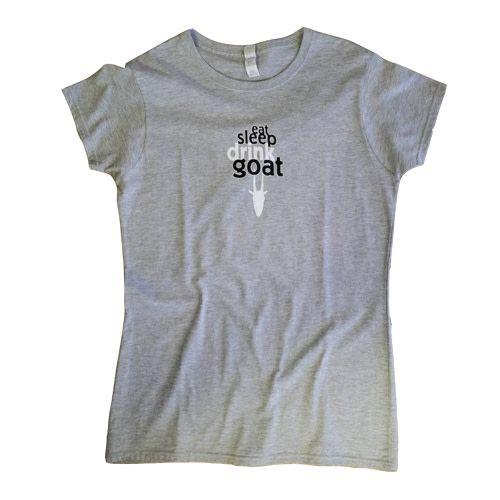 Mountain Goat Mountain Goat Eat Sleep Drink Goat Women's Grey T-Shirt L Size