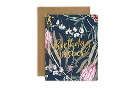 Bespoke Letter Press Bespoke Letterpress Greeting Card - Native Birthday Wishes (Foil)