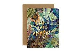 Bespoke Letter Press Bespoke Letterpress Greeting Card - You are amazing (Jungle)