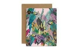 Bespoke Letter Press Bespoke Letterpress Greeting Card - Well done! (Jungle)