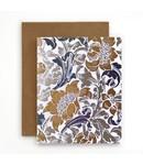 Bespoke Letter Press Bespoke Letterpress Greeting Card - Art Deco Floral (foil)