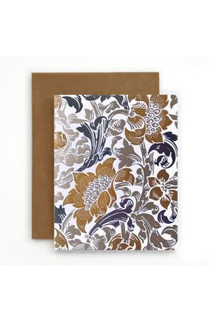Bespoke Letter Press Bespoke Letterpress Greeting Card - Art Deco Floral (foil)