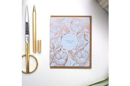 "Bespoke Letter Press Bespoke Letterpress Greeting Card - Botanical ""Thank you very much"" (foil)"