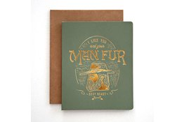 Bespoke Letter Press Bespoke Letterpress Greeting Card - Man Fur (foil)