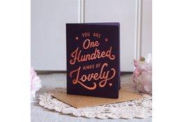 Bespoke Letter Press Bespoke Letterpress Greeting Card - One hundred kinds of lovely (foil)