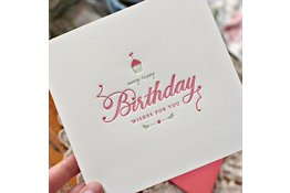 Bespoke Letter Press Bespoke Letterpress Greeting Card - Many Happy Birthday wishes