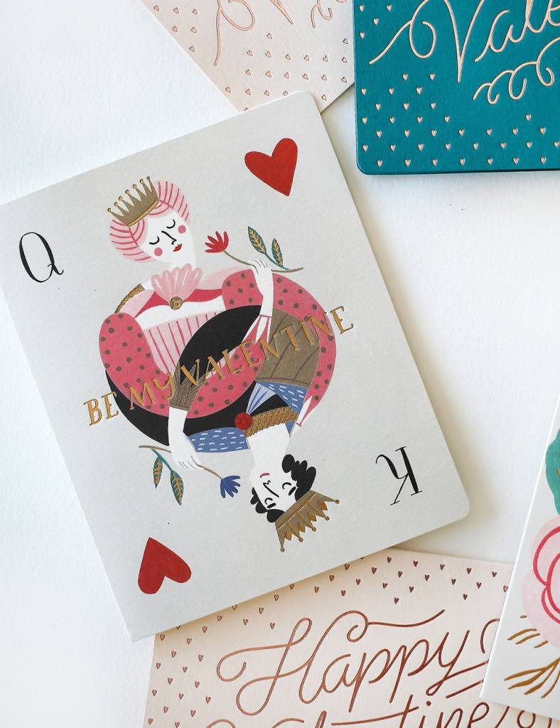 Bespoke Letter Press Bespoke Letterpress Greeting Card - Be my Valentine