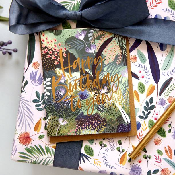 Bespoke Letter Press Bespoke Letterpress Greeting Card - Happy Birthday to you! (Jungle)