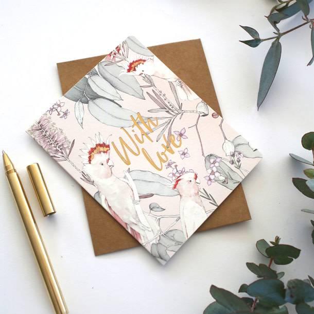 Bespoke Letter Press Bespoke Letterpress Greeting Card - Native With Love (Foil)