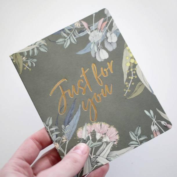 Bespoke Letter Press Bespoke Letterpress Greeting Card - Native Just For You (Foil)