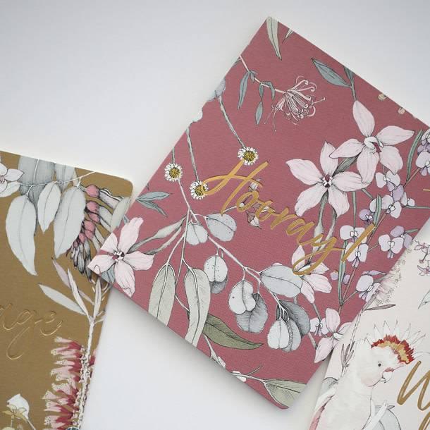 Bespoke Letter Press Bespoke Letterpress Greeting Card - Native Hooray (Foil)