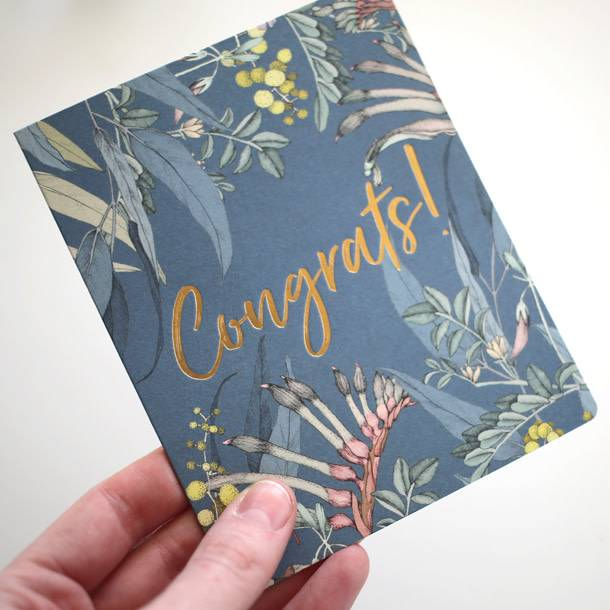 Bespoke Letter Press Bespoke Letterpress Greeting Card - Native Congratulations (Foil)