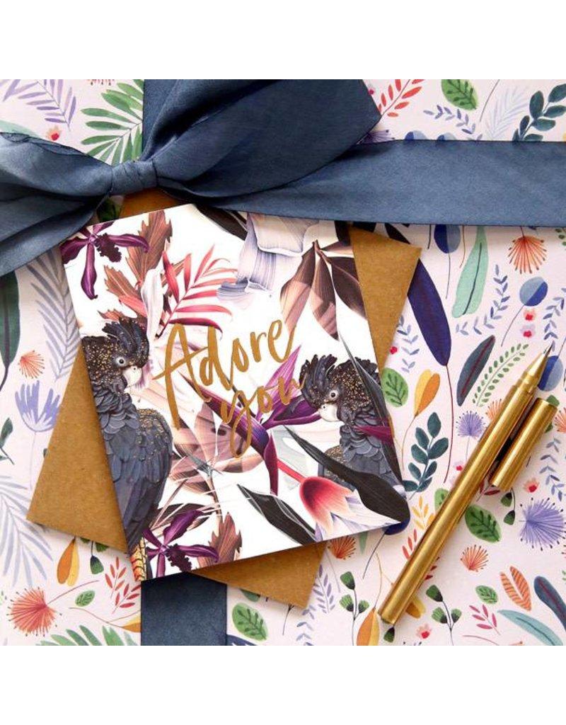 Bespoke Letter Press Bespoke Letterpress Greeting Card - Adore you ( Jungle)
