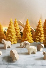 Old Mill Candles Delicate Beeswax Pine Tree - Medium - 5 in