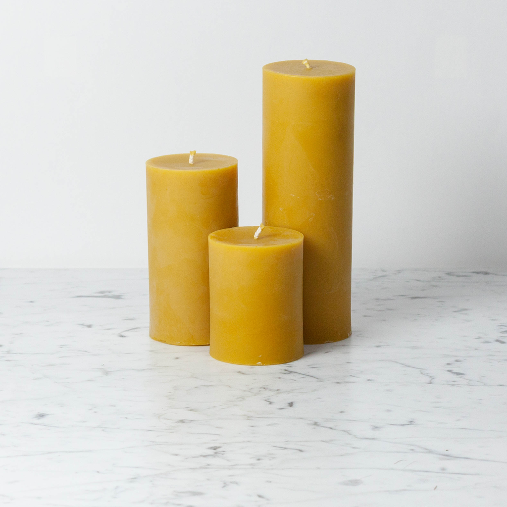 Old Mill Candles Large Beeswax Pillar 90 hr
