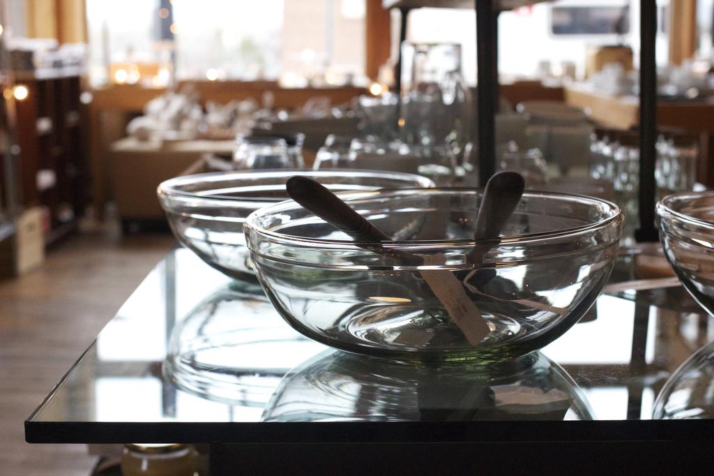 "Handblown Glass Bowl - Large - 11 1/2"""