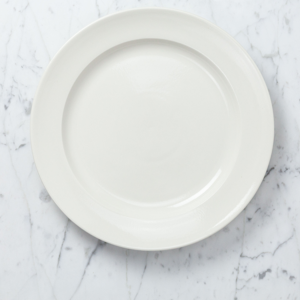 John Julian John Julian Plain Porcelain Large Dinner Plate - 12""