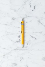 Sierra Wooden Needle Point Pen - Short - Yellow