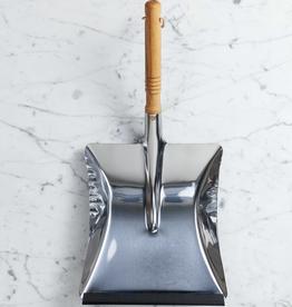 Stainless Steel Dust Pan with Beechwood Handle