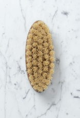 Swedish Handleless Oval Bath and Dry Body Brush - Stiff Bristles