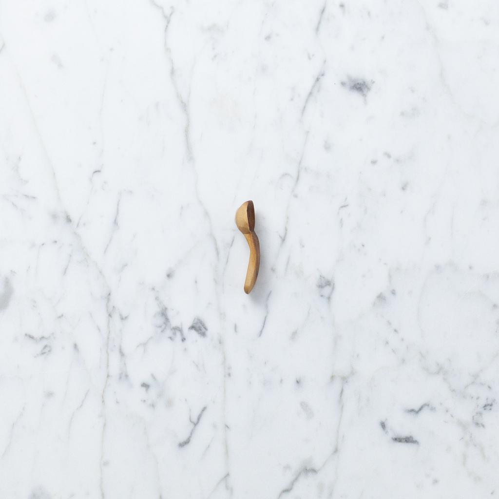Olivewood Flat Handle Tiny Tasting Spoon