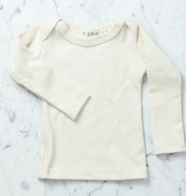 Mabo Kids Organic Cotton Long Sleeve Tee Shirt - Natural - 3 Month