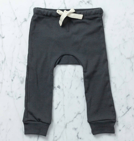 Mabo Kids Organic Cotton Leggings - Graphite - 3 Month